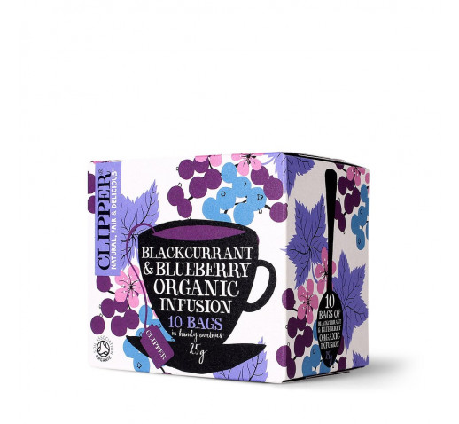 Clipper - Organic Blackcurrant & Blueberry Tea 10 filter 25 g