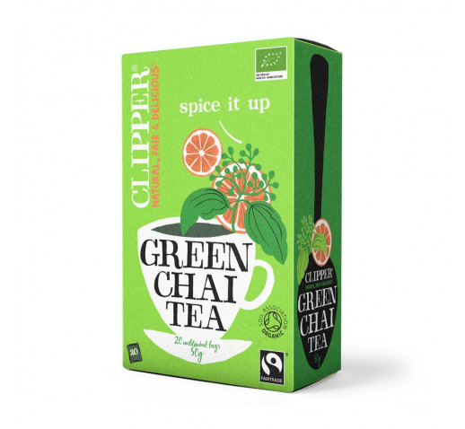 Clipper - Organic Fairtrade Green Tea Chai 20 filter 50 g