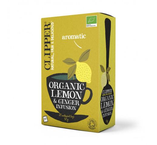 Clipper - Bio Citrom és Gyömbér Tea 62,5 g