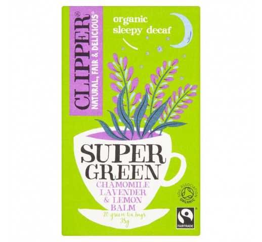 Clipper - Organic Super Green Sleepy Decaf Tea 20 filter 35 g