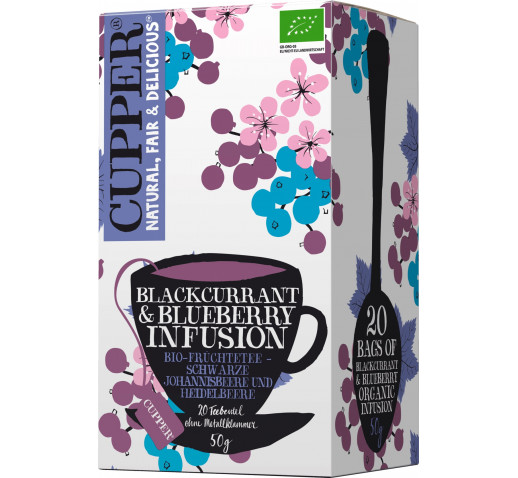 Cupper - Organic Blackcurrant & Blueberry Tea 20 filter 50 g