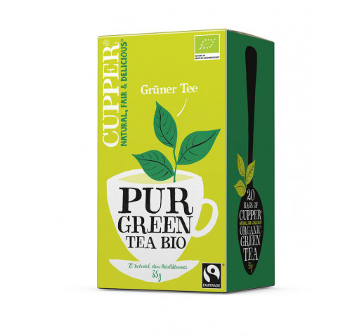Cupper - Organic Pure Green Tea 20 filter 35 g