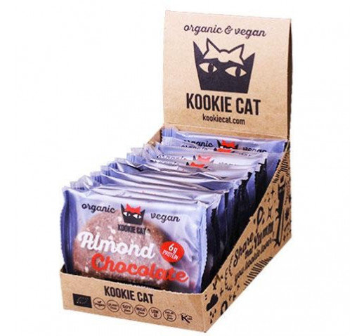 Kookie Cat - Organic Almond & Chocolate Oat Cookie 12 x 50 g