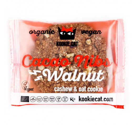 Kookie Cat - Organic Cacao Nibs & Walnut, Cashew Oat Cookie 50 g