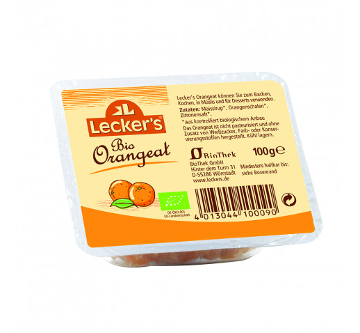 Lecker's - Organic Orangeat-candied orange 100 g