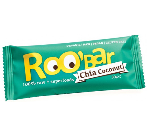 Roobar - Organic Chia & Coconut Raw Bar 30 g