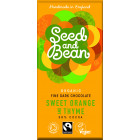 Seed and Bean - Organic Fine Dark Chocolate Sweet Orange and Thyme 85 g