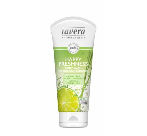 lavera - Happy Freshness tusfürdő lime-citromfű 200 ml