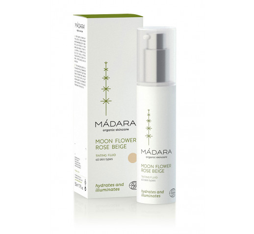 Mádara - Organic Moonflower Rose Beige tinting fluid 50 ml